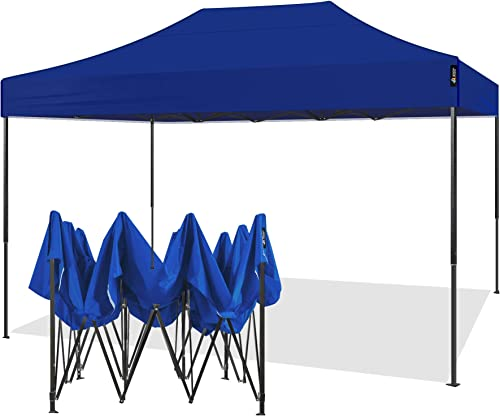 AMERICAN PHOENIX Canopy Tent 10×15 Outdoor Pop Up Easy Portable Instant Wedding Party Tent Event Commercial Fair Car Shelter Canopy Blue