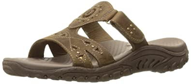 Skechers Women's Reggae Trench Town Slide Sandal,Desert Crazy Horse  Leather,5 ...