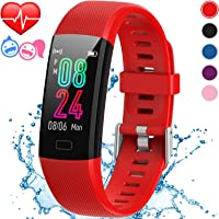 Inspiratek Kids Fitness Tracker for Girls and Boys Age 5-16 (4 Color)- Waterproof Fitness Watch for Kids with Heart Rate Monitor, Sleep Monitor, Calorie Counter and More - Kids Activity Tracker