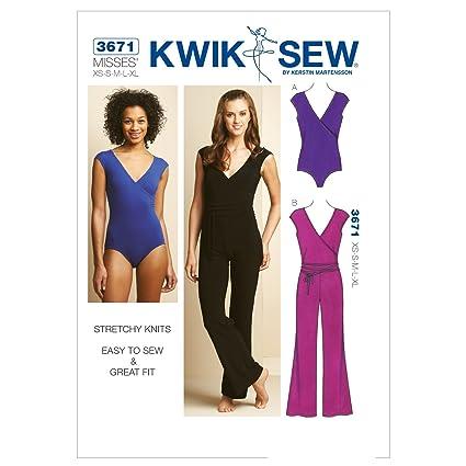 Amazon Kwik Sew K3671 Leotard And Unitard Sewing Pattern Size