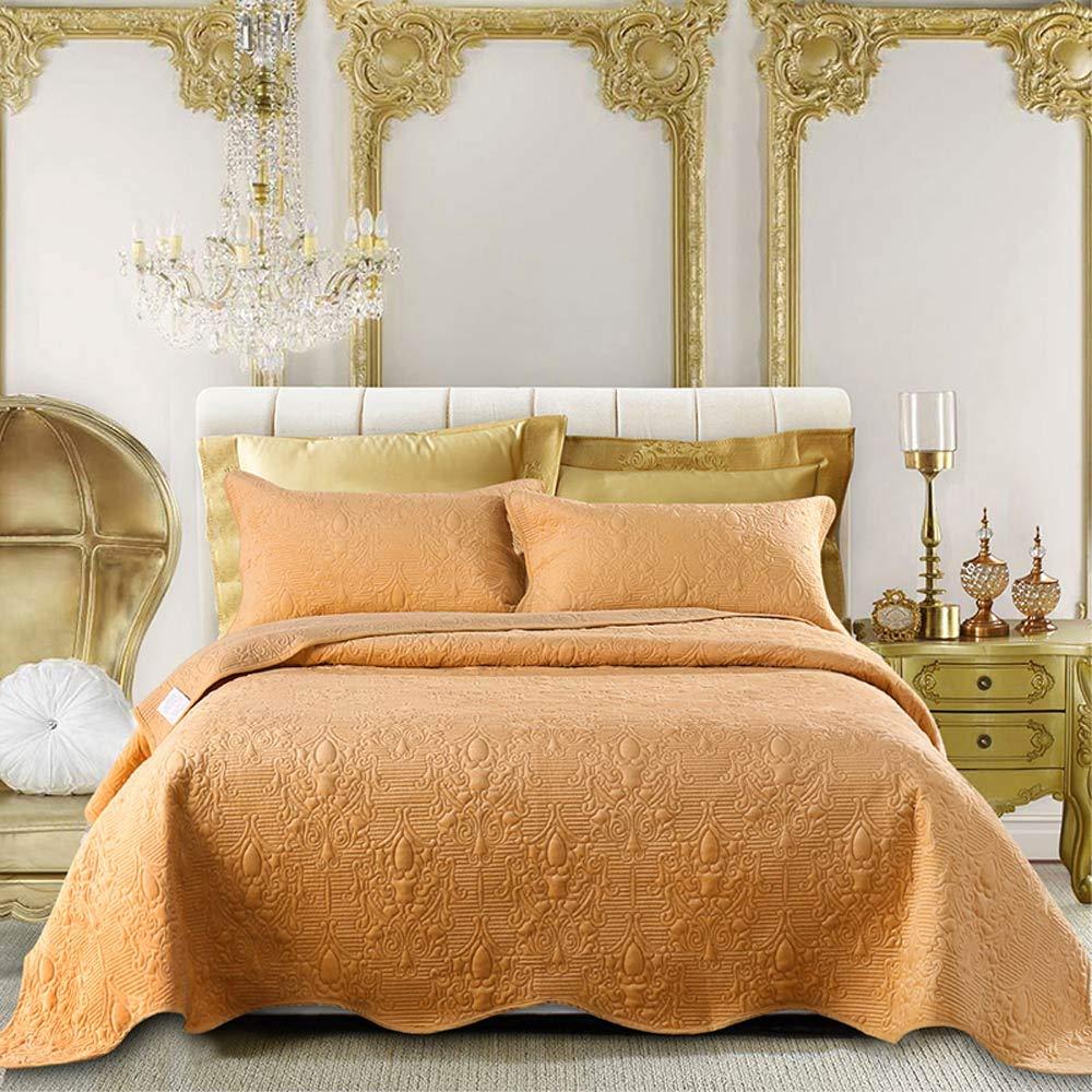 TheFit ペイズリー寝具 W1701 ブラウンコーヒー ベッドカバーセット ポリエステルとコットン 3ピース B07KT11F8C