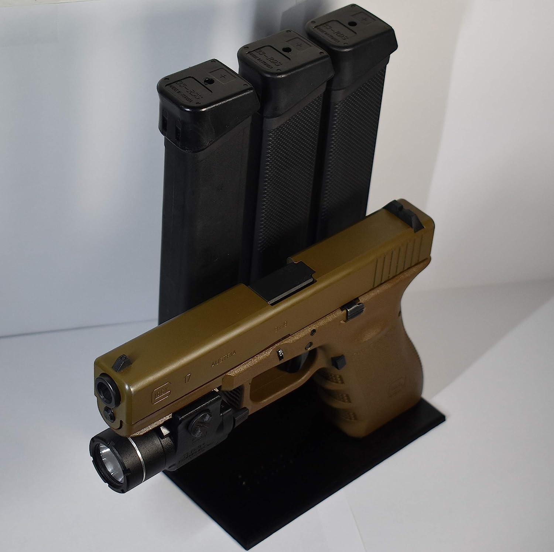 Amazon Com Premier Gun Accessories Glock Handgun Display Stand And Magazine Holder Pistol Mount Rack Double Stack 9mm Sports Outdoors