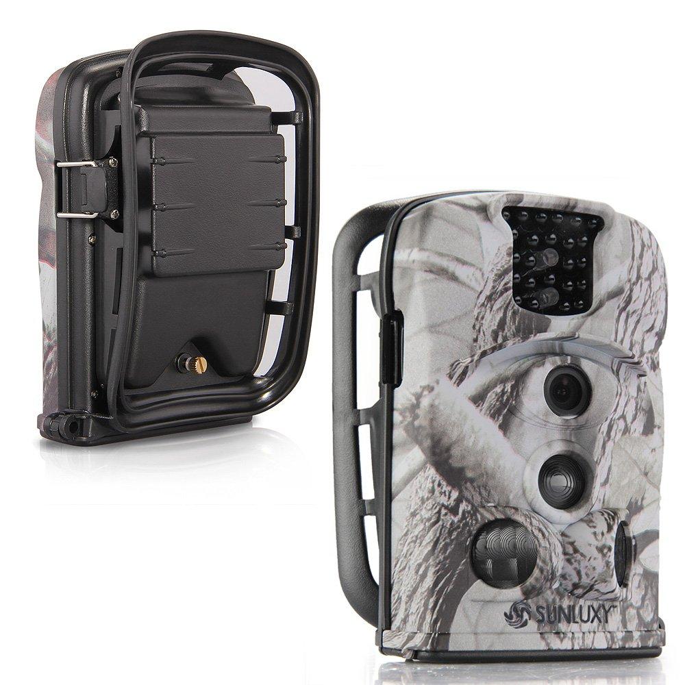 SUNLUXY® 8210A 12MP Impermeable Cámara de caza deporte cazadora Vigilancia Seguridad IR-Cut LCD con Tarjeta SD 8G: Amazon.es: Bricolaje y herramientas