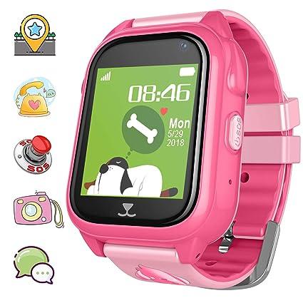 Amazon.com: Reloj inteligente con GPS para niños, podómetro ...