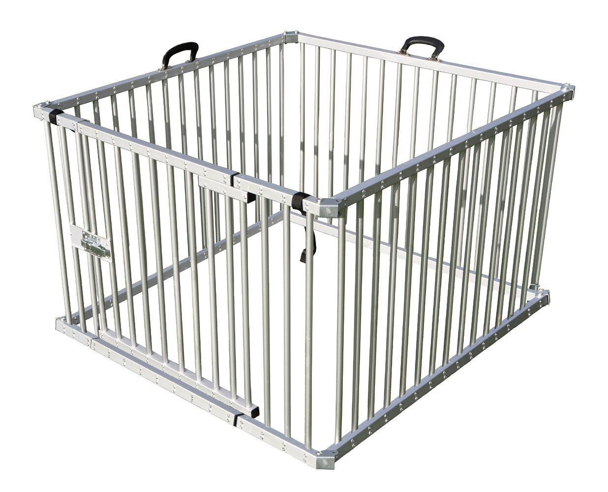 Cool Runners Secure Aluminum Portable Expandable Pet Enclosure 4 Sections (25''H x 36''L per Section) Lightweight & Collapsible