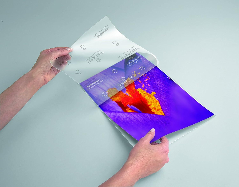 Fellowes 5306002 Pochettes de Plastification A5 80 Microns par 100 Transparent /& Basics Plastifieuse thermique A4