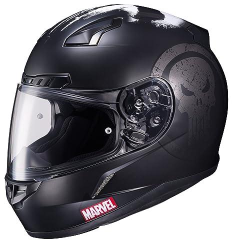d4589369 HJC Helmets Marvel CL-17 Unisex-Adult Full Face THE PUNISHER Street  Motorcycle Helmet (Black/White, X-Large): Amazon.in: Car & Motorbike