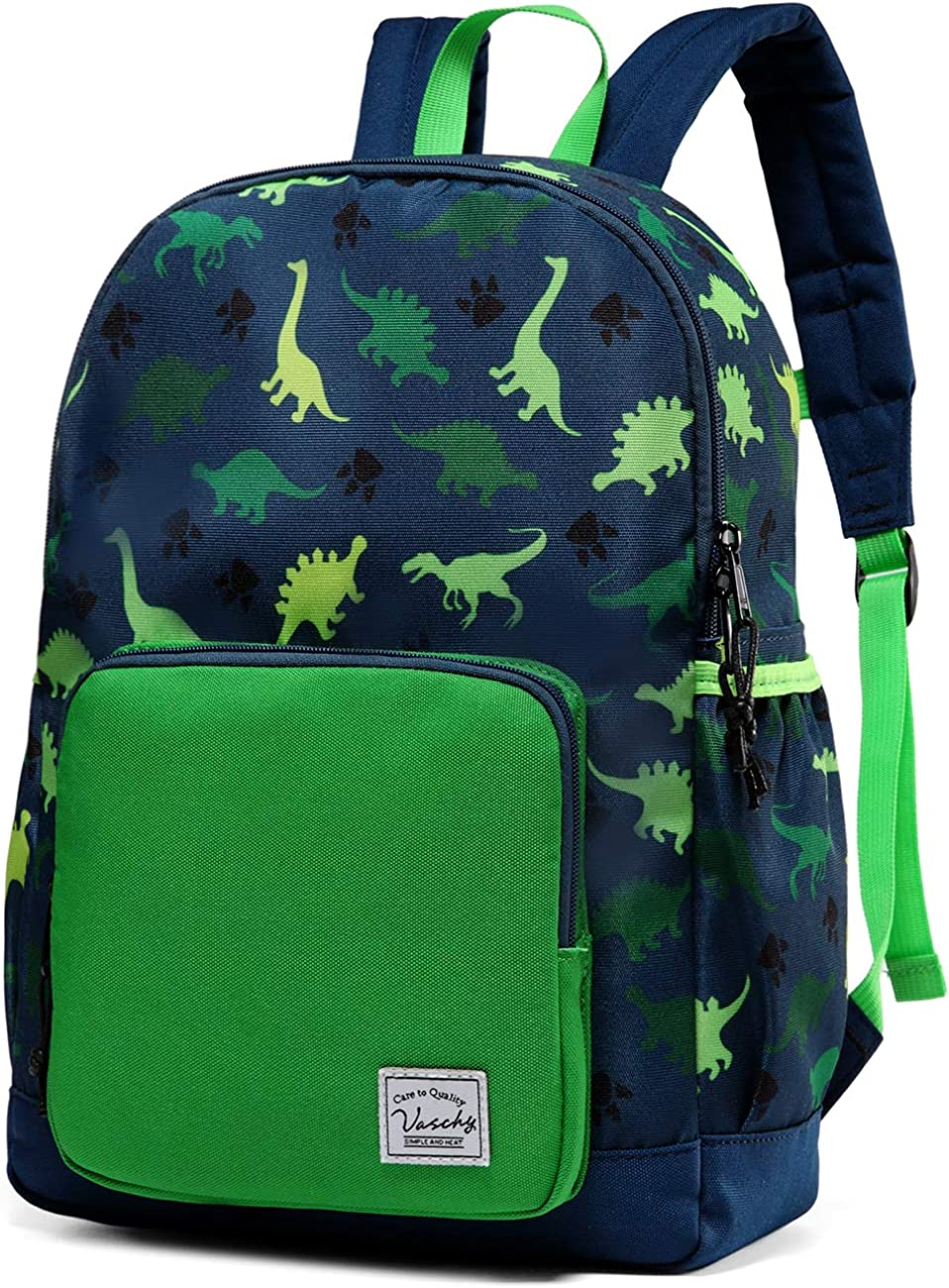 Kids backpacks,VASCHY Cute Lightweight Water Resistant Preschool Backpack for Boys and Girls Chest Strap