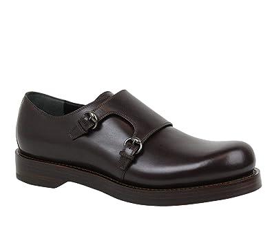 ef7d57f79495 Gucci Horsebit Buckle Monk-Strap Brown Leather Dress Shoes 358272 2145  (10.5 G