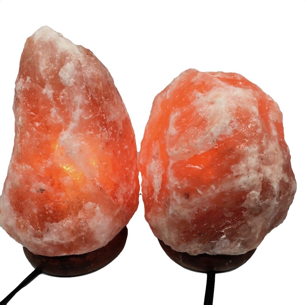 2x Himalaya Natural Handcraft Rough Raw Crystal Salt Lamp 6.75''-8''Tall, X098, Exact Item will be Delivered
