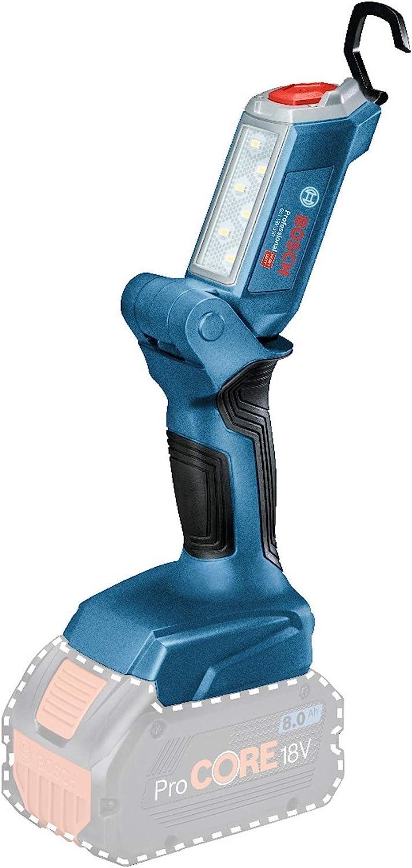 Bosch Professional GLI 18V-300 Linterna, sin batería, flujo luminoso 300 lúmenes, caja de cartón, 18 V