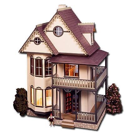 Amazon Com Tennyson Dollhouse Kit Greenleaf Dollhouses Laser Cut
