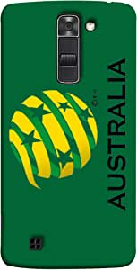 ColorKing Football Australia 03 Green shell case cover for LG K10