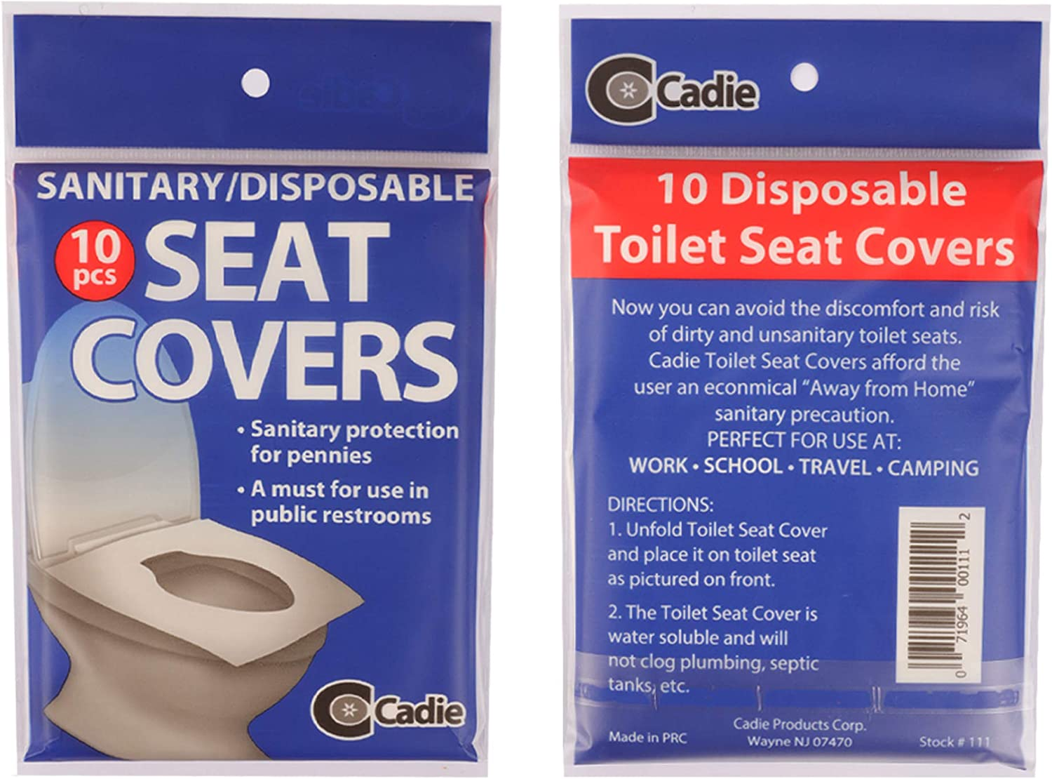 DISPOSABLE TOILET SEAT COVERS Paper  Sanitary Hygienic Camping Travel Flushable