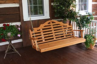 product image for Outdoor 6 Foot Marlboro Porch Swing - Painted- Amish Made USA -White