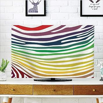YCHY - Funda para televisor LCD, diseño de Cebra, Color Blanco y ...