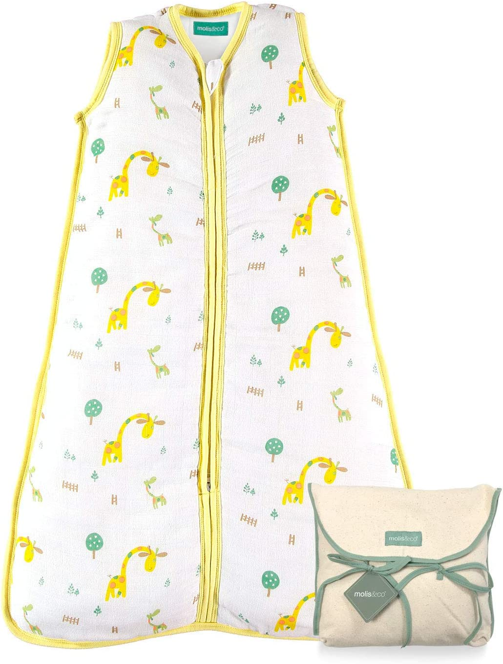 Babies Grow Bag. Super Soft and Warm 2.5 TOG Winter Baby Sleeping Bag Unisex Grey Leaf Print 0 to 6 Months Ideal for Winter and mid-Season use molis/&co