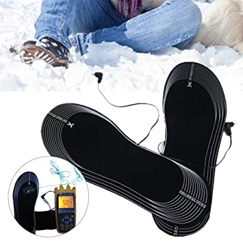 Samber Carbon Fiber Warming Insoles Battery-Operated Foot Warmer Heating  Shoes Insoles Feet Electric Thermal 1fb376b698fa