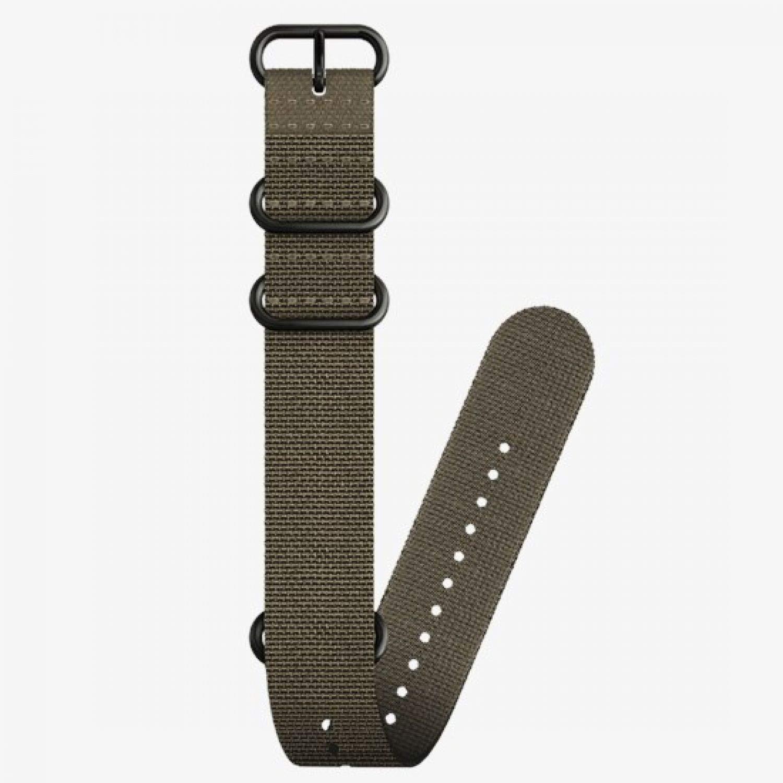SUUNTO 24mm Dive 2 Textile Zulu Strap Stealth Black Size L by Suunto