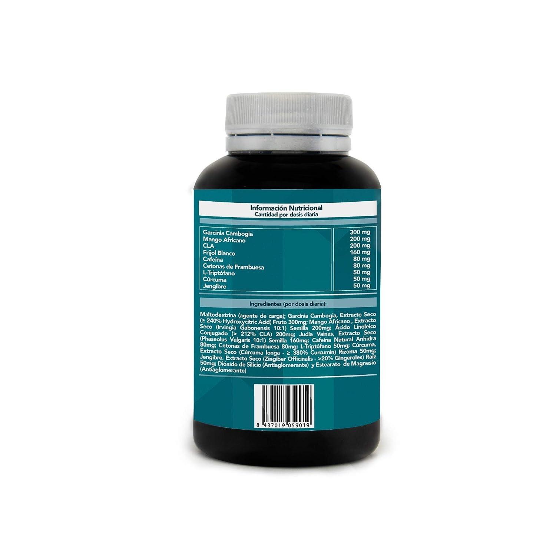 ... Reductora Del Apetito y Estimulante Del Metabolismo | Adelgaza De Manera Natural, Rápida y Segura | 90 Caps. Vegetales De Alta Concentración.