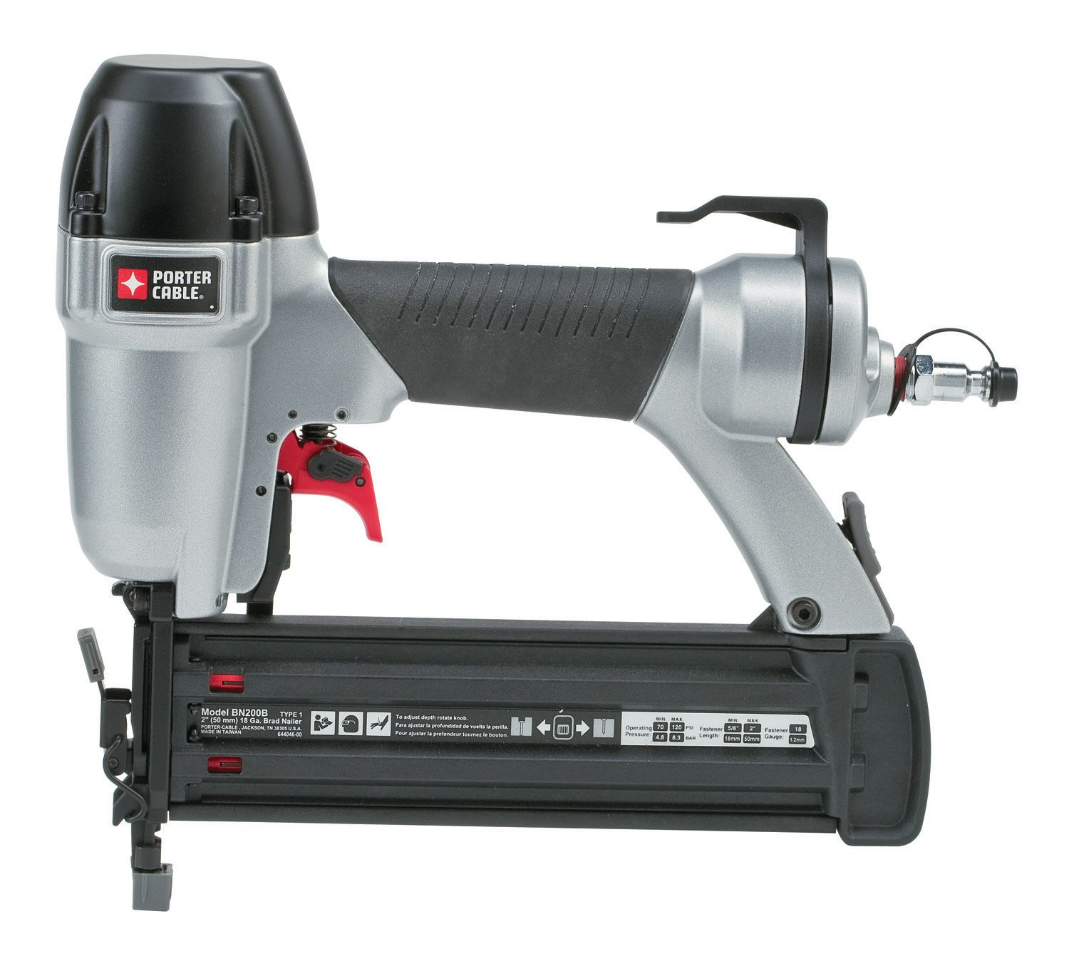 PORTER-CABLE BN200B 5/8 Inch to 2 Inch 18-Gauge Brad Nailer - Power ...
