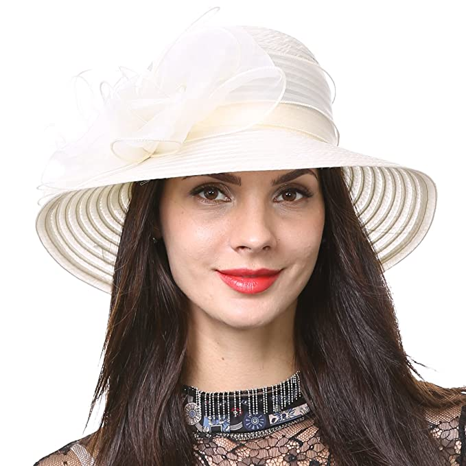 84785fe3e9589 Ascot Derby Bowler Church Cloche Hat Bowknot Bridal Dress Party Cap S051  (Apricot)  Amazon.co.uk  Clothing