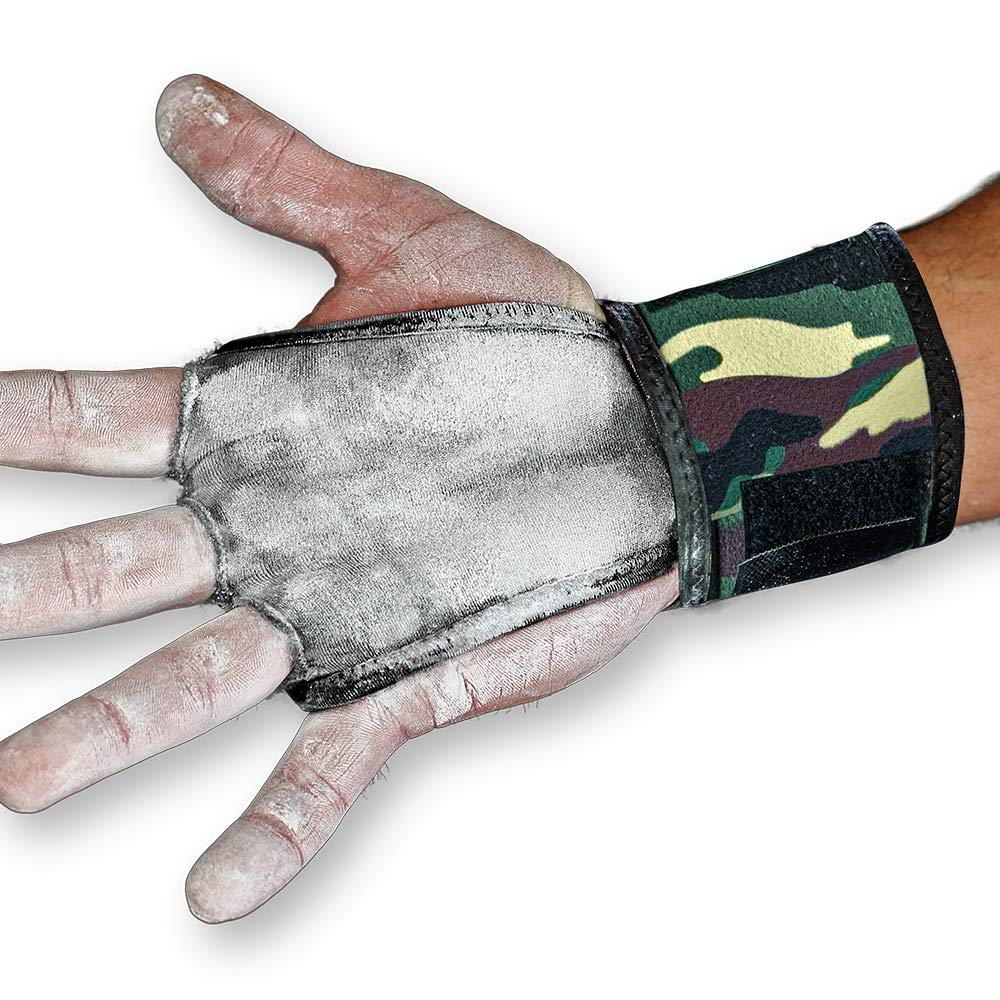 JerkFit WODies Full Camo 2in1 Combined Wrist Wraps, Palm Protection (Small, Green Camo)