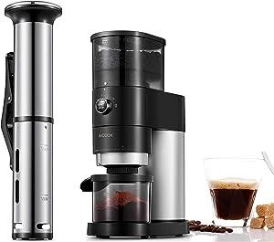 AICOOK SOUS VIDE + BURR COFFEE GRINDER Professional Series