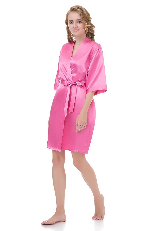 314a1207d8dce Bluetime Women Robe Soft Kimono Robes Cotton Bathrobe Sleepwear Loungewear  Short FS10053 Home & Garden Store