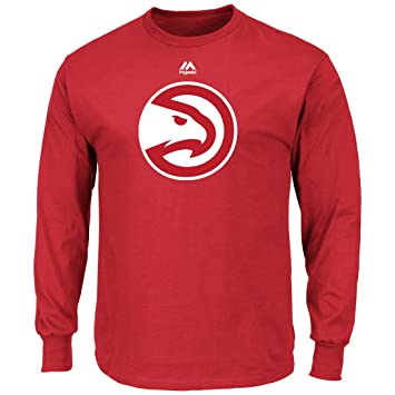 Majestic Atlanta Hawks NBA Supreme Logo Men s Long Sleeve – Camiseta ...