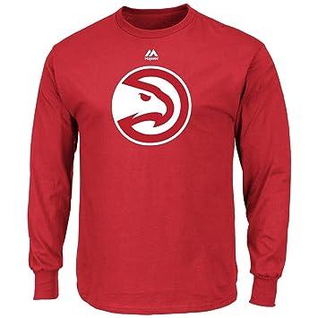 Majestic Atlanta Hawks NBA Supreme Logo Men s Long Sleeve – Camiseta ...