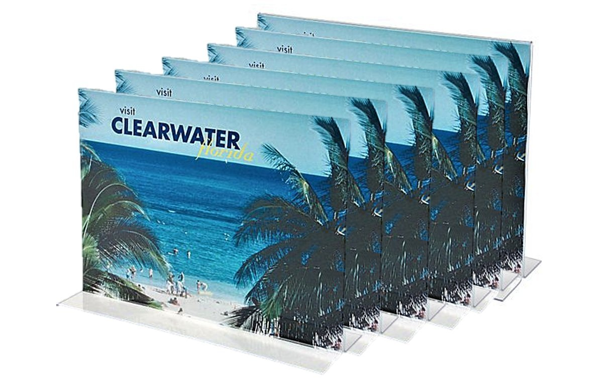 1InTheOffice Acrylic Stand-Up Horizontal Sign Holder 8.5x11''6 Pack''