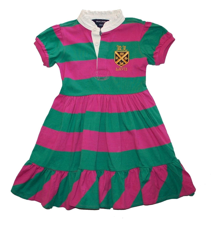 d23557bd4 Amazon.com: Ralph Lauren Girls Striped Rugby Dress 3 3T: Baby