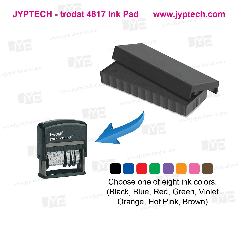 Trodat T4817 Dater Replacement Pad, 3/8 x 2, Black