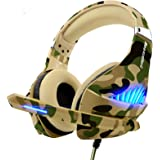 Gaming Headset for PS4 Xbox One PC, Beexcellent Deep Bass PS4 Headset with Noise Immunity Mic, LED Light, Friction-Reduction