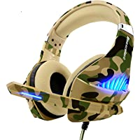 Gaming Headset for PS4 Xbox One PC, Beexcellent Deep Bass PS4 Headset with Noise Immunity Mic, LED Light, Friction…