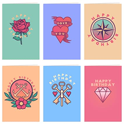 Happy Birthday Cards With Envelopes Pack Of 30 Blank