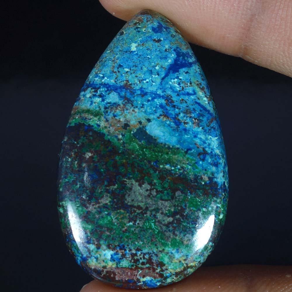 Radheygovind gems 54.10Cts.100% Natural Blue Azurite Pear Cab Fine Quality Loose Gemstones