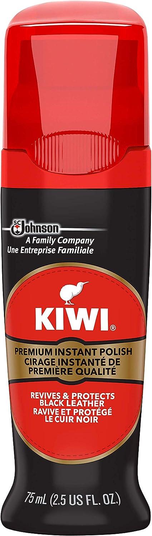 KIWI Instant Shine & Protect Liquid Shoe Polish, Black, 1 Bottle with Sponge Applicator, 2.5 oz: Health & Personal Care