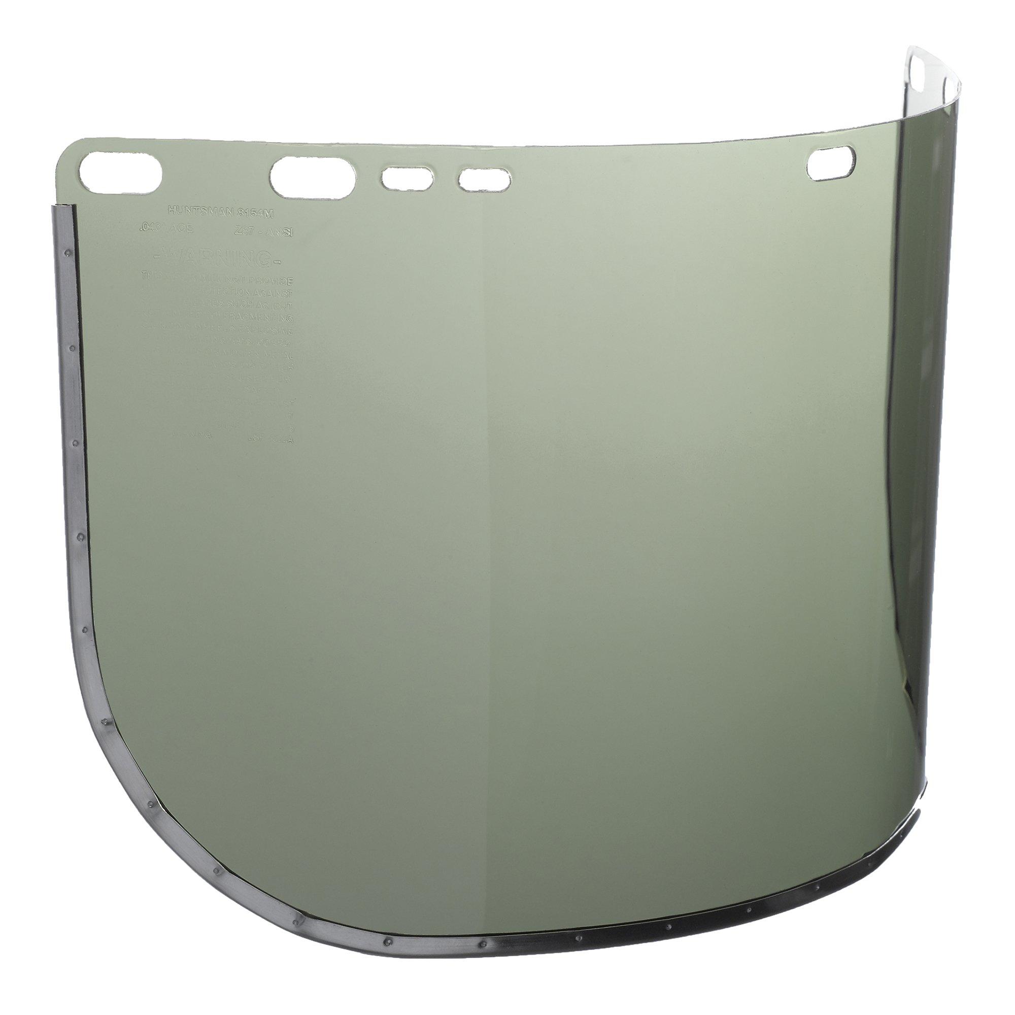 Jackson Safety F30 Acetate Face Shield (29082), 9'' x 15.5'', Light Green, Reusable Face Protection, 12 Shields / Case