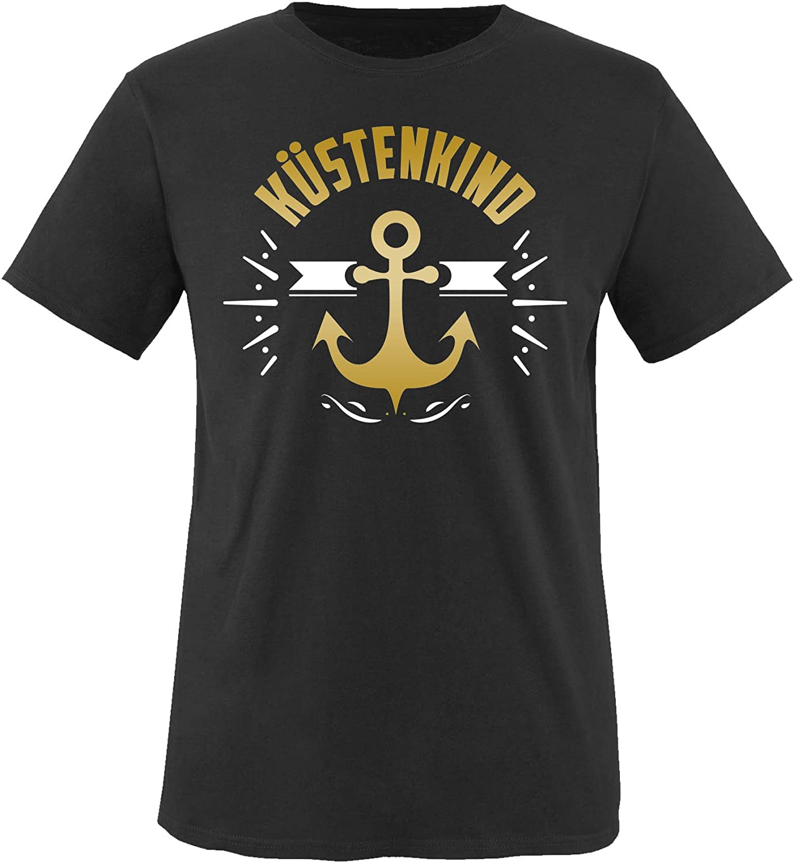 K/üstenkind Anker Rundhals Top Basic Print-Shirt Comedy Shirts Jungen T-Shirt 100/% Baumwolle