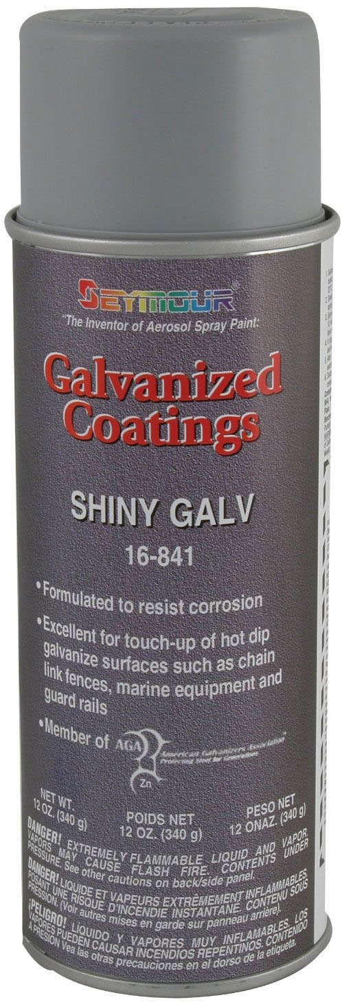 Seymour 16-841 Galvanized Coatings Spray Paint, Shiny