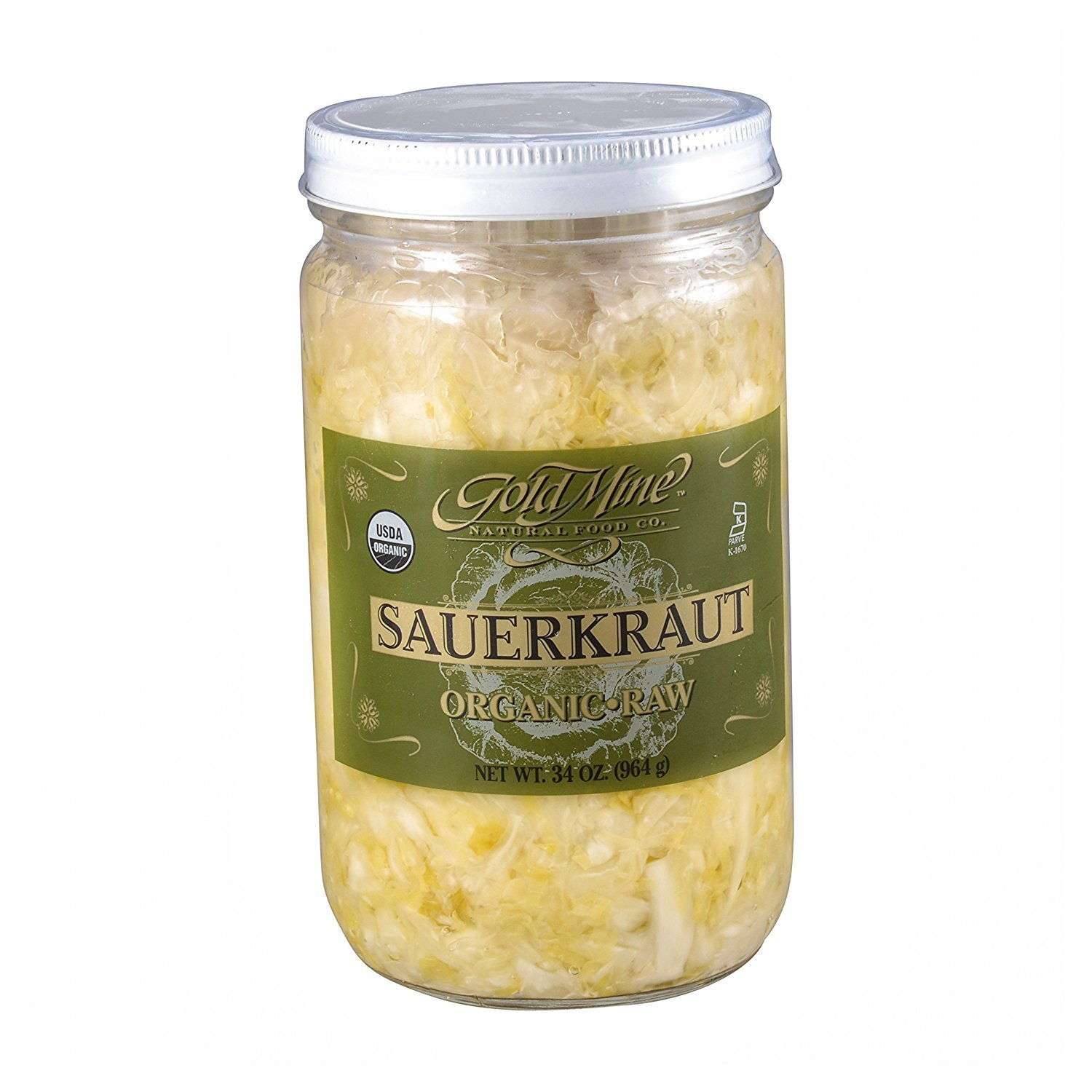 GOLD MINE ORGANIC RAW SAUERKRAUT 34 OZ by Gold Mine Natural Food Co.