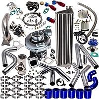 maXpeedingrods T3 T4 T04E Universal Turbo Turbocharger Piping Kit Intercooler External Wastegate