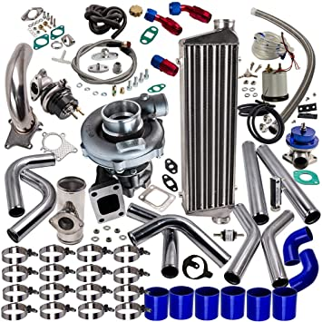 maXpeedingrods T3 T4 T04E Universal Turbo Turbocharger Piping Kit Intercooler External Wastegate: Amazon.es: Coche y moto