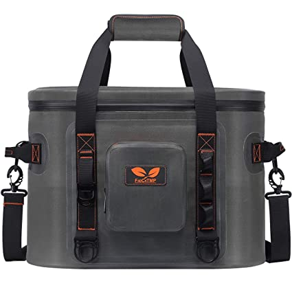 fe7e419cf Amazon.com : F40C4TMP Soft Cooler Bag 32 Cans, Leak-Proof Waterproof  Portable Insulated Cooler, Soft Side Carrier Cooler for Outdoor Fishing,  Picnic, ...