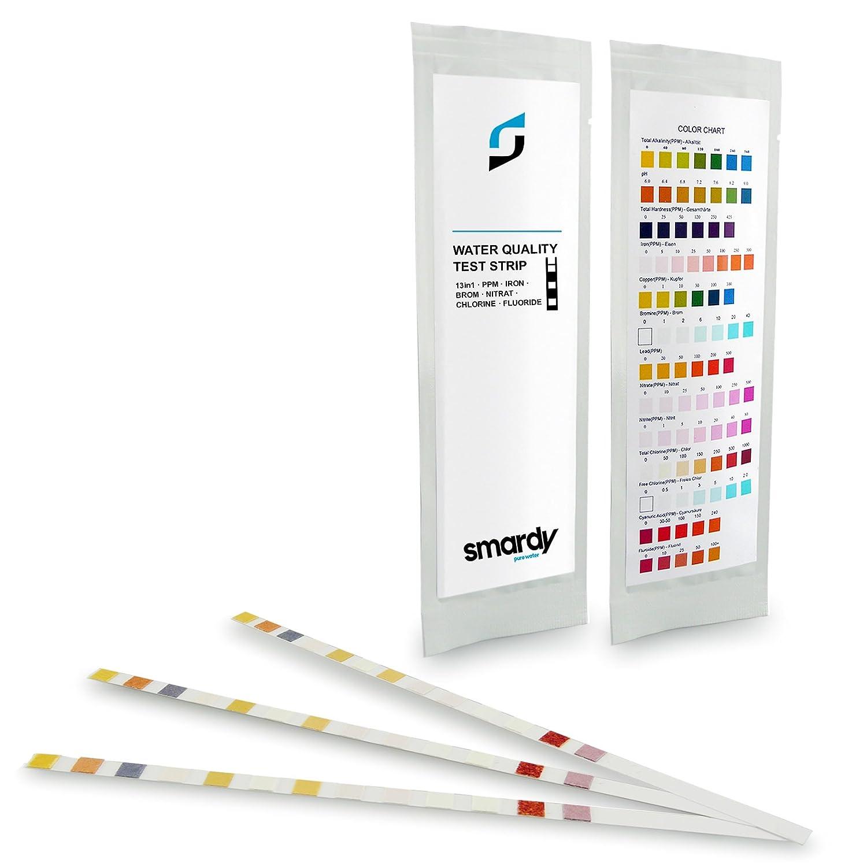 smardy® ULTRA Test En Bandelettes 13 EN 1 test de la dureté de l'eau