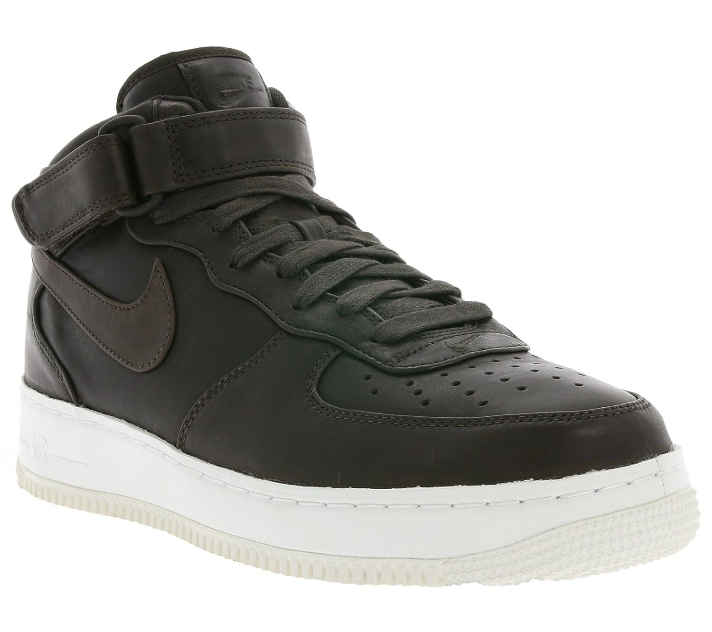 Nike Mens Lab Air Force 1 Mid Velvet Brown Leather