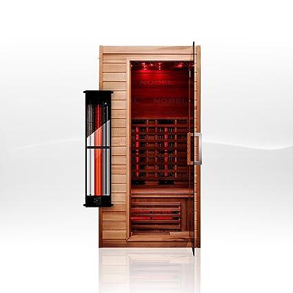 Cabina de infrarrojos Nobel 90 Red Ceder con radiadores Triflex