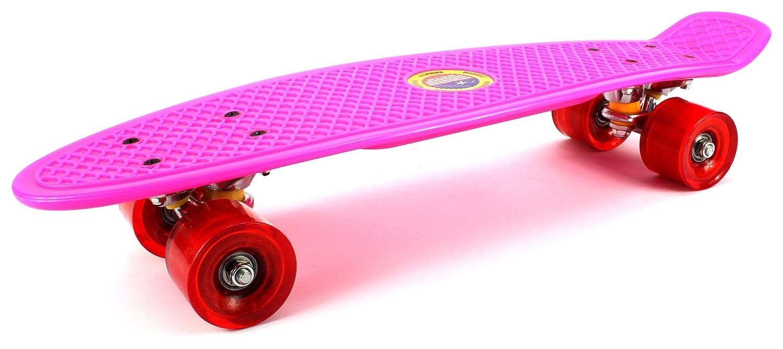 低価格 Classic Mini Inch B011MEQDD0 Velocity Cruiser Complete 22 Inch Banana Skateboard Set w/ Metal Trucks, High Quality Bushings, ABEC-7 Bearings (Pink) by Velocity Toys B011MEQDD0, カミタカイグン:2f91f6d8 --- a0267596.xsph.ru